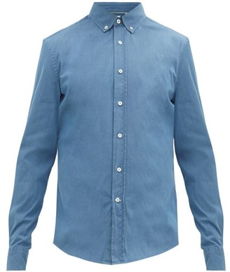 Brunello Cucinelli Leisure-fit Button-down Cotton-chambray Shirt - Blue