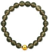 Macy's Gold-Tone Beaded Stone Stretch Bracelet