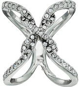 GUESS Pave Open Crisscross Ring Ring