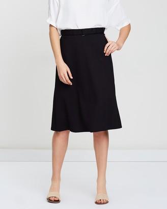 Privilege Belted Midi Skirt