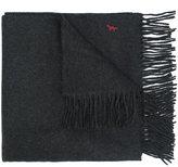 MAISON KITSUNÉ embroidered logo scarf