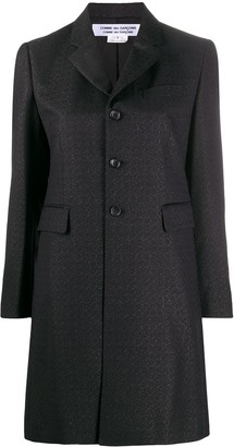 Comme des Garcons Single-Breasted Metallic Coat