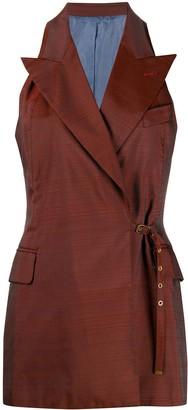 Jean Paul Gaultier Pre Owned 1995 Sleeveless Peaked Waistcoat