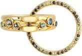 CHARLOTTE CHESNAIS FINE JEWELLERY Three Lovers sapphire, topaz & yellow-gold ring
