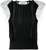 Valentino lace insert knitted top