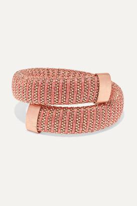 Carolina Bucci Caro Rose Gold-plated, Cotton And Lurex Bracelet