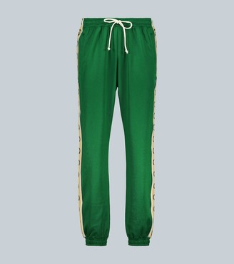 Gucci GG-trimmed relaxed-fit trackpants