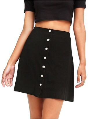 Belle & Bloom Into The Woods Black Leather Mini Skirt