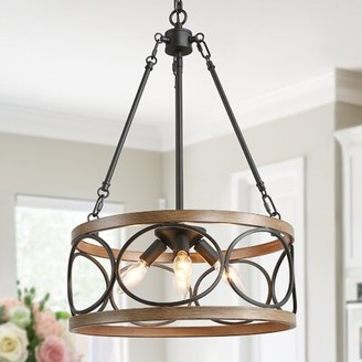 Gracie Oaks Baca 4-Light Lantern Drum Pendant