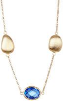 Rivka Friedman 18K Gold Clad Poppy Crystal & Pebble Station Necklace