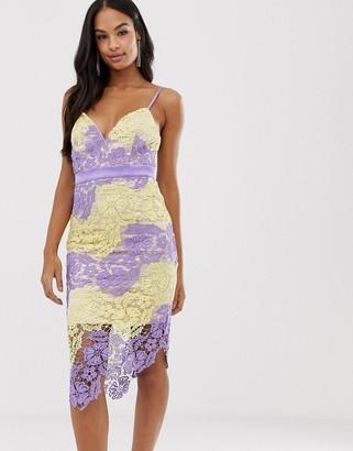 Forever U lace pencil dress in multi