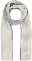 Barneys New York WOMEN'S COLORBLOCKED CHUNKY WOOL-CASHMERE KNIT SCARF-GREY