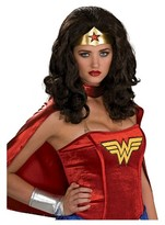 BuySeasons Halloween Wonder Woman Adult Costume Wig Black