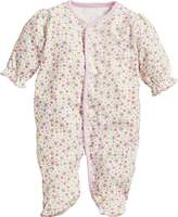 Playshoes Baby Girls' Schlafoverall Blumen Sleepsuit,(Manufacturer Size: 74)