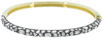 Fred Leighton 18kt Yellow Gold Pave Set Diamond Bangle