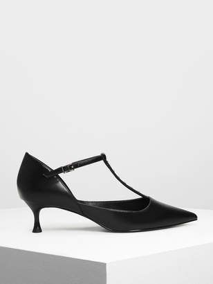Charles & Keith Embellished T-Bar Heels
