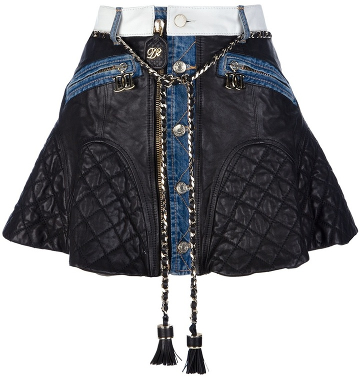 DSquared Dsquared2 quilted leather skirt