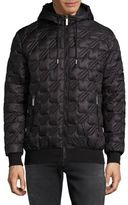 Versace Quilted Hooded Jacket