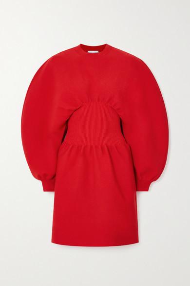 Bottega Veneta Wool-blend Mini Dress - Red