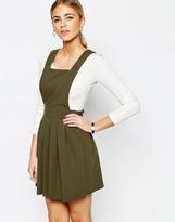 Love Tailored Mini Pinafore Dress