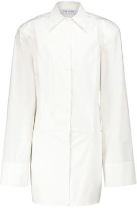ATTICO Cotton poplin mini shirt dress