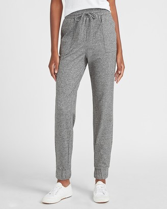 Express High Waisted Heathered Jersey Jogger Pant