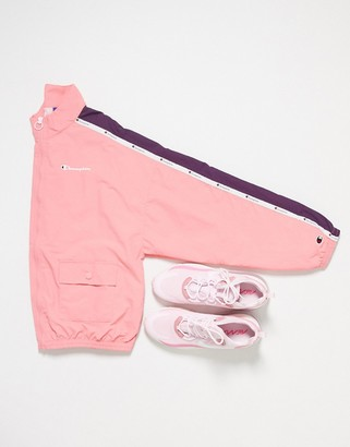 Champion boxy track jacket in pink