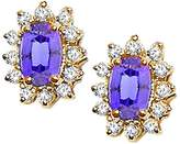Tommaso design Studio Tommaso Design Oval 7x5mm Genuine Tanzanite and Diamond Earrings 14k