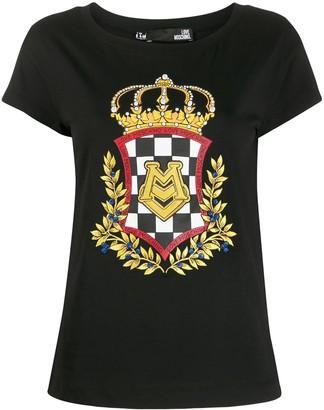 Love Moschino crown logo print T-shirt