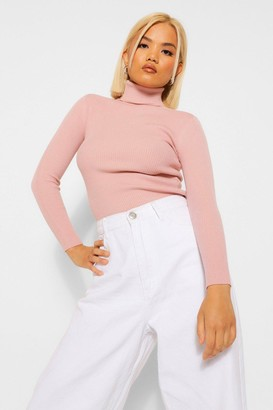 boohoo Petite Rib Knitted Roll Neck sweater