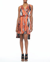 Robert Rodriguez Brushstroke-Print Dress