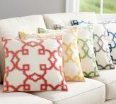 Pottery Barn Trellis Velvet Appliqué Pillow Cover