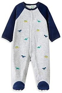 Little Me Boys' Dino Velour Footie - Baby