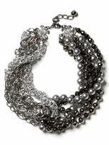 Silent film bib necklace