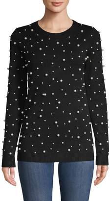 Love Token Embellished Long-Sleeve Sweater
