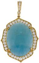 Penny Preville 18K Aquamarine & Diamond Pendant