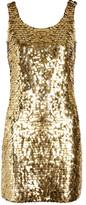 Paillette-embellished crepe mini dress