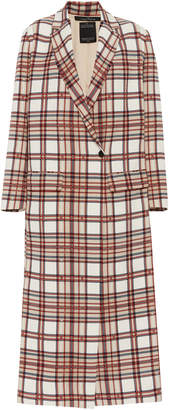 Rokh Tailored Plaid Coat With Slits Size: 34