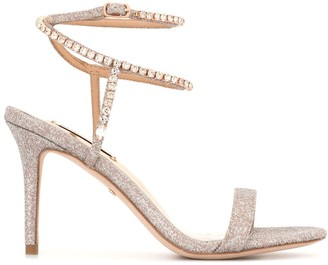 Badgley Mischka Claudette wrap sandals