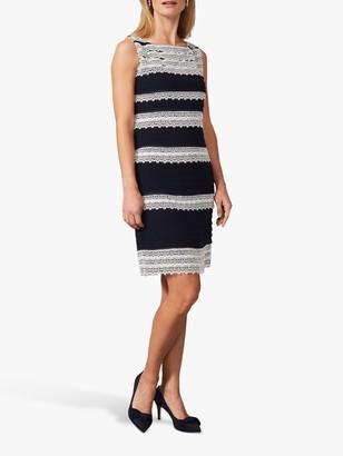 Phase Eight Priyanka Layered Dress, Navy/Ivory