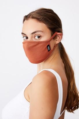 Cotton On Foundation Foundation Rib Face Mask w/Filter Pocket
