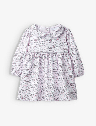The Little White Company Ditsy Berry printed cotton-jersey dress 0-24 months