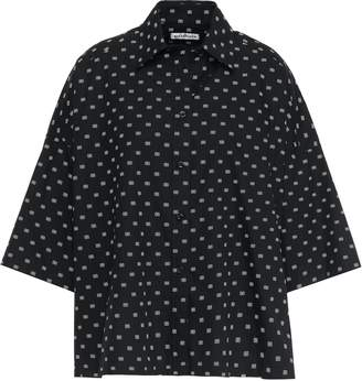 Balenciaga Oversized Printed Cotton-poplin Shirt