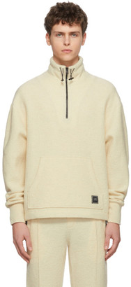 Ami Alexandre Mattiussi Off-White Wool Half-Zip Sweater