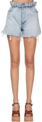 Miu Miu Denim High Waist Shorts