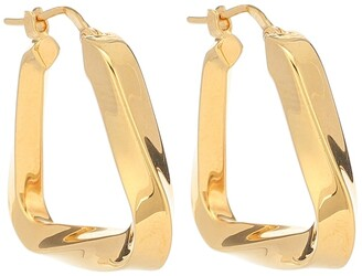 Bottega Veneta Gold-plated twisted hoop earrings