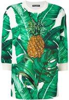 Dolce & Gabbana embellished brocade sweatshirt - women - Silk/Cotton - 38