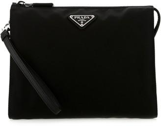 Prada Zipped Logo Wash Bag