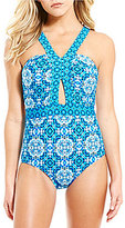 Laundry by Shelli Segal Mayan Cut-Out One-Piece