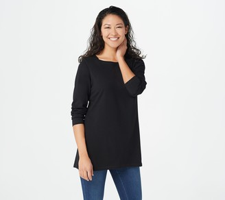 Denim & Co. Jersey Boatneck Long-Sleeve Tunic